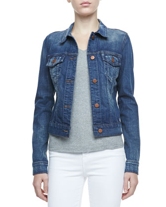 Slim-Fit Denim Jacket, Archaic