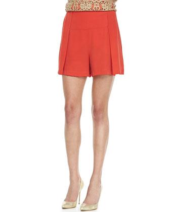 Silk Wide-Leg Shorts