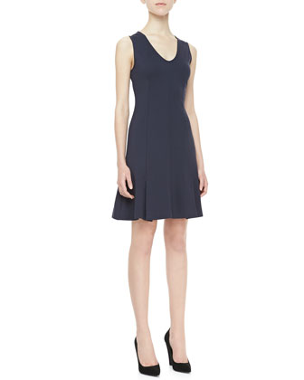 Canneros Sleeveless Crepe Dress