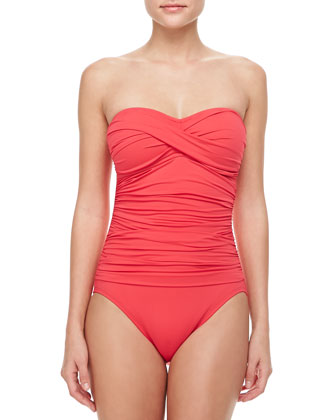 Island Goddess Bandeau One-Piece Swimsuit