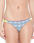 Reversible Zunzal Floral-Print Hipster Swim Bottom
