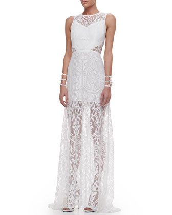 Everly Lace Open-Back Maxi Dress