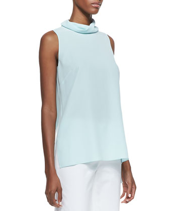 Careena Sleeveless Silk Top & Cropped Bleecker Pants