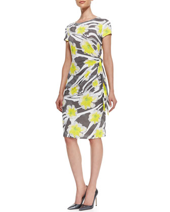 Printed Side-Tie Dress