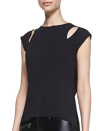 Valery Cutout Sleeveless Blouse