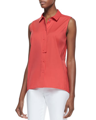 Daisy Sleeveless Poplin Blouse