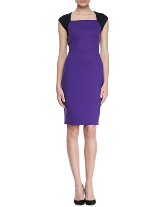 Moxie Bicolor Sheath Dress