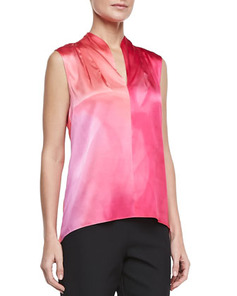 Esme Sleeveless Charmeuse Blouse