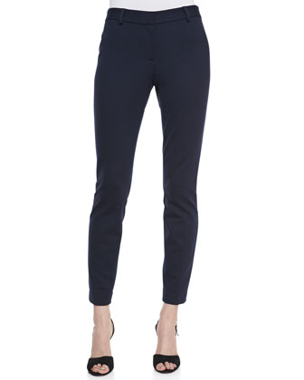 Raquel Jersey Slim Pants, Navy