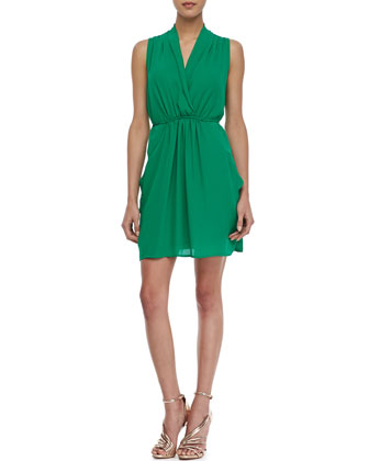 Sleeveless Cross-Front Dress