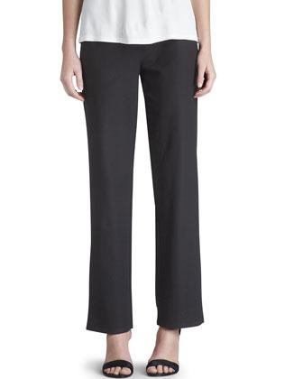 Short Crepe Jacket, Slim Jersey Tank & Washable-Crepe Straight-Leg Pants