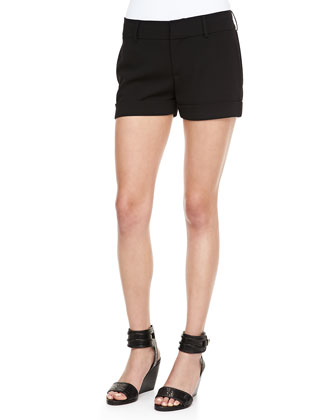 Tailored Stretch-Crepe Shorts