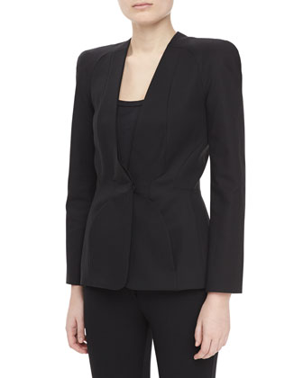 One-Button Jacket, Black