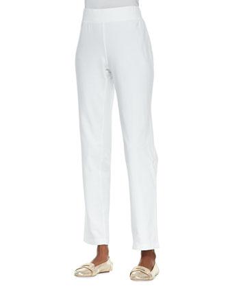 Skinny-Leg Jersey Pants, Black