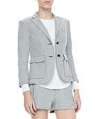 Nancy Double-Button Cotton Blazer