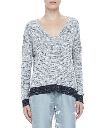 Dionne Tonal V-Neck Sweater
