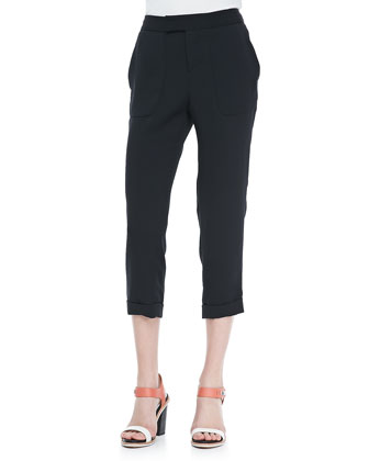 Cropped Cuffed Beach Pants