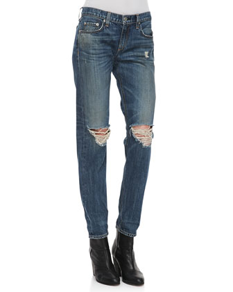 Boyfriend Buckley Ripped-Knee Jeans
