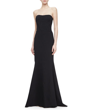 Strapless Mermaid Gown, Black
