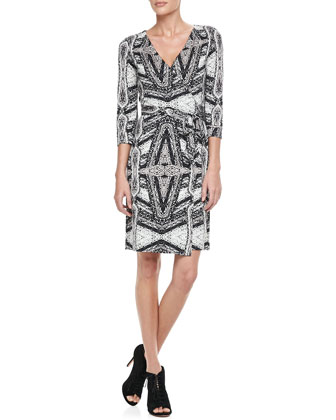 New Julian Two Diamond Maze Wrap Dress