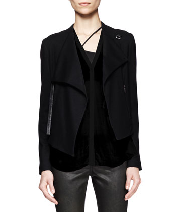 Sonar Wool Cropped Jacket, Lush Twist-Back Shirt & Elst Coated Coal ...