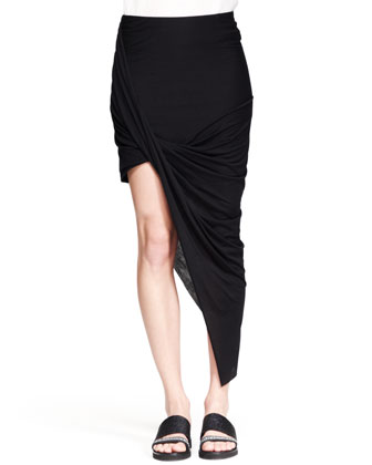 Breeze Sleeveless Keyhole Top and Kinetic Asymmetric Wrap Skirt