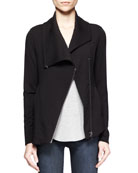 Villous Asymmetric-Zip Sweatshirt
