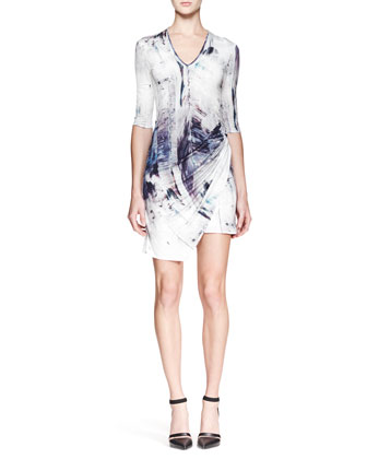 Tidal Printed Jersey Dress