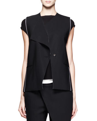 Pierce Buttoned Origami Vest
