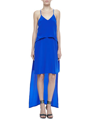 Byrne Tiered High-Low Dress