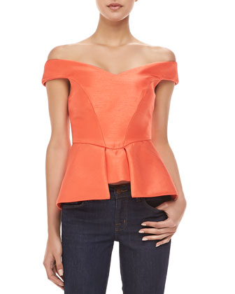 Luck Now Peplum Top