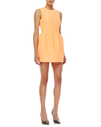 Pink Matter Woven Dress, Peach Pop