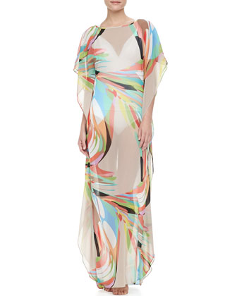 Avril Maxi Swimsuit Coverup, Driftwood