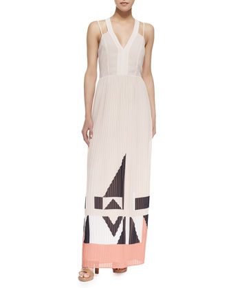 Marquee Parade Geometric Print Maxi Dress
