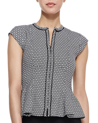 Almost Heaven Printed Peplum Top & Simply Magic Pencil Skirt
