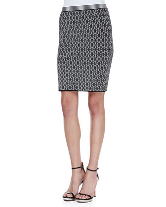 Minx Printed Knit Skirt