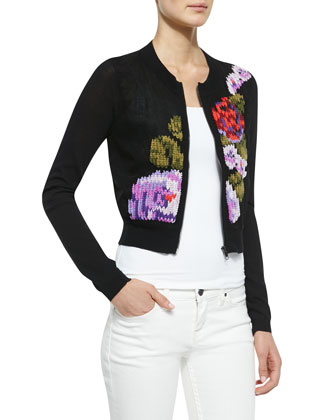 True Love Patterned Zip Cardigan