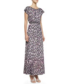 Modern Romance Floral-Print Long Dress