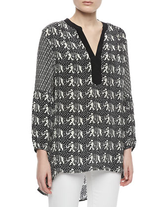Monisha Print Long Tunic