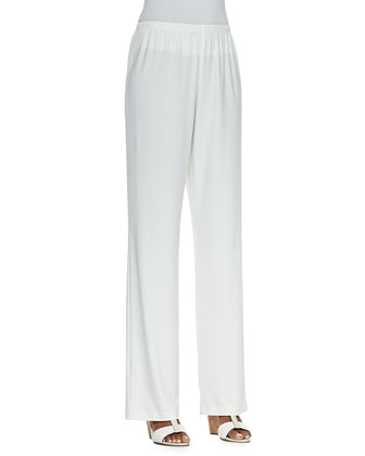 Straight-Leg Knit Pants, Women's