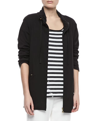 Long Jersey Jogging Jacket, Petite
