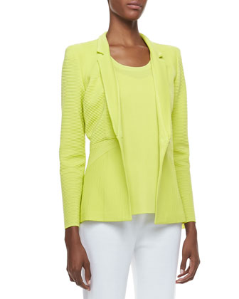 Maribel Ottoman Ribbed Jacket, Limelight