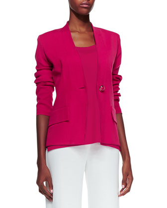 Tyler One-Button Jacket, Petite