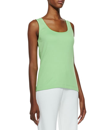 Scoop-Neck Cotton Tank, Petite