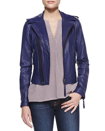 Ailey Washed Leather Jacket