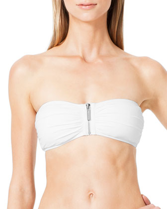 Tunisia Front-Zip Bandeau Top & Skirted Bottom
