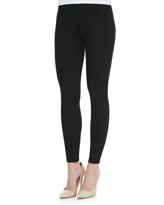 Ann Contrast-Waist Leggings