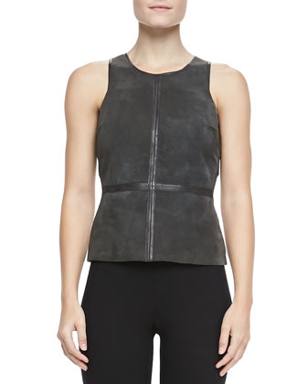 Kelly Sleeveless Suede Top