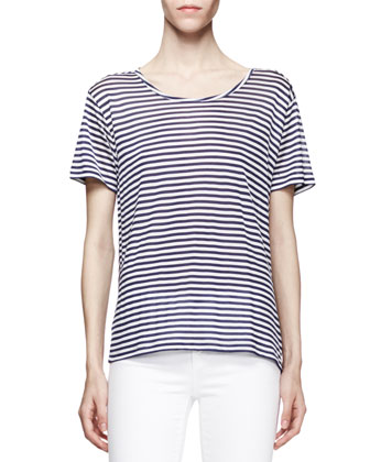 Dekker Striped Silk Tee