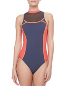 High Neck Racer Swimsuit